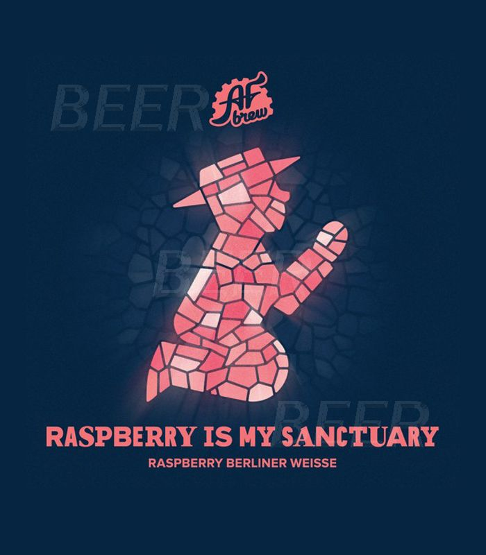 АФ Брю Расберри из май Сэнкчуари/AF Brew Raspberry is My Sanctuary 20л.ПЭТ